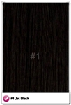 "Salon Grade Remy Quality Clip In 26"" Full Head Human Hair Extensions - #1 - Jet Black"