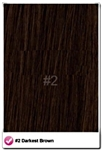 "Salon Grade Remy Quality Clip In 26"" Full Head Human Hair Extensions - #2 - Dark Brown"