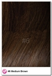 "Salon Grade Remy Quality Clip In 26"" Full Head Human Hair Extensions - #6 - Medium Brown"
