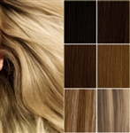 Salon Grade Remy Quality DIY Weft Full Head Human Hair Extensions - Choose Your Color & Length