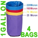 Hash Bubble Bags 1 Gal 4 Bag Set 25 - 220 Micron