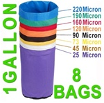 Hash Bubble Bags 1 Gal 8 Bag Set 25 - 220 Micron