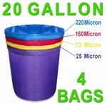 Hash Bubble Bags 20 Gal 4 Bag Set 25 - 220 Micron