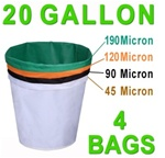 Hash Bubble Bags 20 Gal 4 Bag Set 45 - 190 Micron