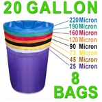 Hash Bubble Bags 20 Gal 8 Bag Set 25 - 220 Micron