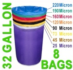 Hash Bubble Bags 32 Gal 8 Bag Set 25 - 220 Micron