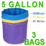 Hash Bubble Bags 5 Gal 3 Bag Set 25 - 220 Micron