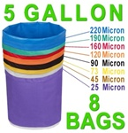Hash Bubble Bags 5 Gal 8 Bag Set 25 - 220 Micron