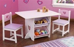 Brand New Heart Table & Chair Set
