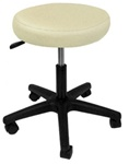 beige hydraulic salon stool