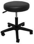 black hydraulic salon stool