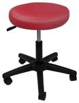burgundy hydraulic salon stool