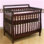 2 In 1 Cherry Sleigh Mini Baby Crib/Twin Size Bed