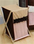 Manhattan Pink Wooden Clothes Hamper Storage