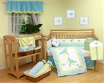 Blue Dragonfly 9Pcs Baby/Toddler Bedding Set