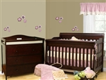 2 IN 1WHITE SLEIGH MINI BABY CRIB / TWIN SIZE BED