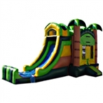 Commercial Grade Inflatable 3in1 Tropical Beach Slide Combo Bouncy House