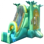 Commercial Grade Inflatable 3in1 Jungle Slide Combo Bouncy House