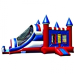 Commercial Grade Inflatable 3in1 Rainbow Castle Slide Combo Bouncy House