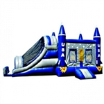 Commercial Grade Inflatable 3in1 USA Rocket Slide Combo Bouncy House