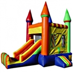 Commercial Grade Inflatable Rainbow Castle 2in1 Combo Bouncy House