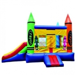 Commercial Grade Inflatable Crayon Slide 2in1 Combo Bouncy House