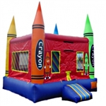 Commercial Grade Inflatable Crayon Bouncer Bouncy House