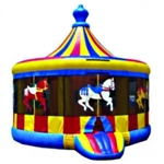 Commercial Grade Inflatable Carousel Bouncer Bouncy House