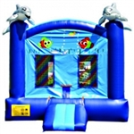 Commercial Grade Inflatable Dolphin Jumper Bouncer Bouncy House