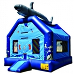 Commercial Grade Inflatable Shark Jumper Bouncer Bouncy House