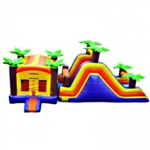 Commercial Grade Inflatable Tropical Combo Obstacle Course