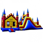 Commercial Grade Inflatable 3in1 Castle Combo Obstacle Course