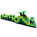 Commercial Grade Inflatable Rain Forest Obstacle Course