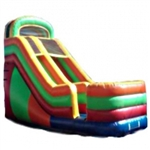 Commercial Grade Inflatable Multi Color Dry Slide