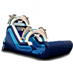 Commercial Grade Inflatable Dolphin Dry Slide