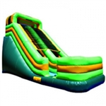 Commercial Grade Inflatable Tropical Color Slide