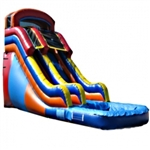 Commercial Grade Inflatable Rainbow Water Slide