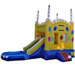 Commercial Grade Inflatable Birthday Cake Bouncy House with Pool