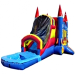 Commercial Grade Inflatable USA Rocket Water Combo Bouncy House