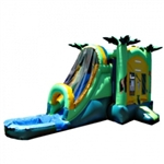 Commercial Grade Inflatable Palm Tree Water Combo Bouncy House