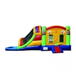 Commercial Grade Inflatable Adventure 3in1 Water Combo Bouncy House