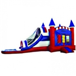 Commercial Grade Inflatable USA 3in1 Water Combo Bouncy House
