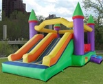 Inflatable Castle Bouncer Bouncy House with 2 Slides