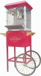 New 8oz Premium Popcorn Popper Machine with Cart