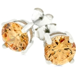 Classic Champagne Stud Earrings
