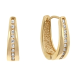 Elegant Goldtone Hoop Earrings
