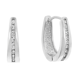 Elegant Silvertone Hoop Earrings