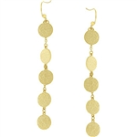 Golden Disc Accent Earrings