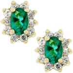 Emerald Flower Earrings