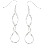 Trysted Silvertone Earrings